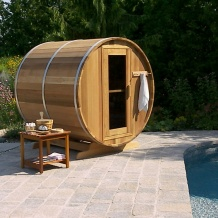 Zedernholz Fass Sauna Kanada